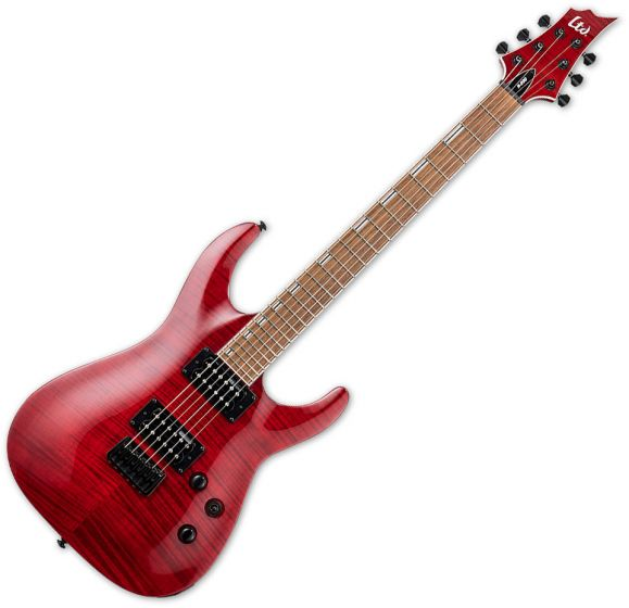 ESP LTD H-200FM Electric Guitar See Thru Red LH200FMSTR
