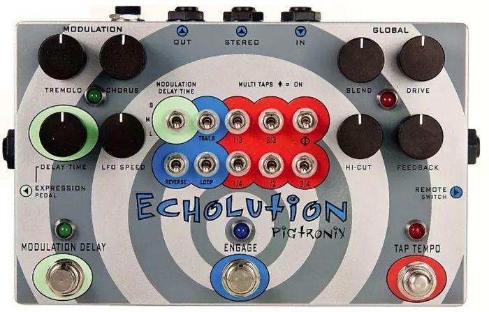 Pigtronix PHI Echolution Tap Tempo Analog Delay with Modulation Guitar Pedal sku number PHI