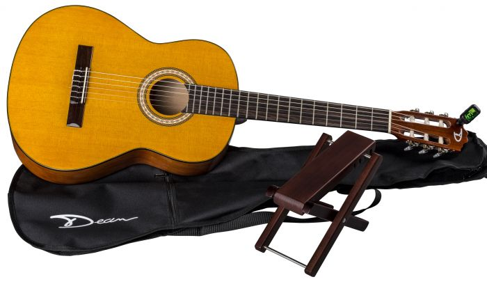 Dean Classical Acoustic Guitar Pack w/Gig Bag & Foot Stool PC PK PC PK