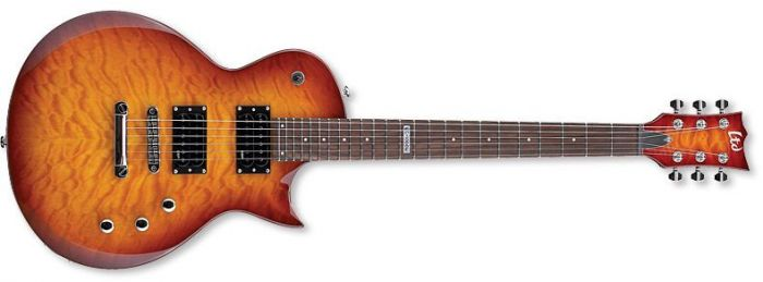 ESP LTD EC-100QM Quilt Maple Faded Cherry Sunburst Guitar B-Stock LEC100QMFCSB.B