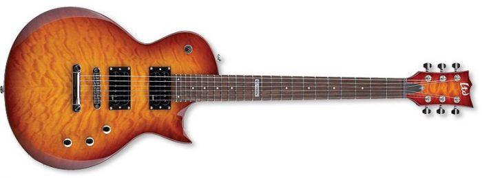 ESP LTD EC-100QM Quilt Maple Faded Cherry Sunburst Guitar LEC100QMFCSB