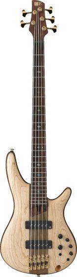 Ibanez SR Premium SR1305 5 String Natural Flat Bass Guitar SR1305NTF