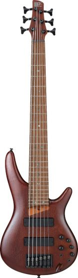 Ibanez SR Standard SR506E 6 String Brown Mahogany Bass Guitar sku number SR506EBM
