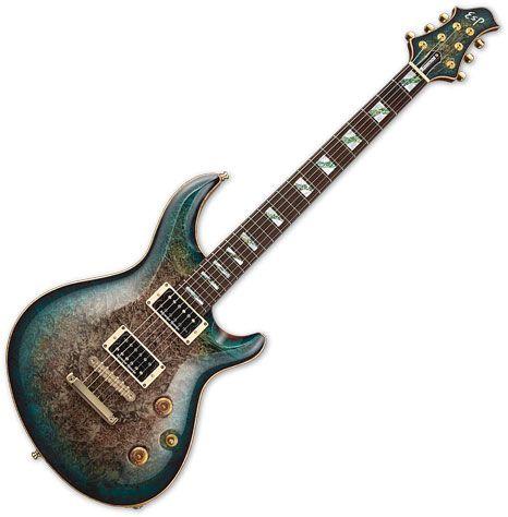 ESP Mystique CTM Electric Guitar See Thru Black Blue Burst EMYSTCTMBMSTBLKBLFD