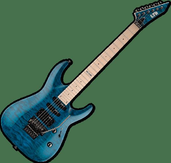 ESP LTD MH-103QM Guitar in See-Through Blue sku number LMH103QMSTB