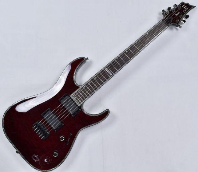 ESP LTD Deluxe H-1000 QM Electric Guitar in See Thru Black Cherry LH1000QMSTBC