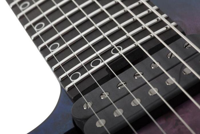 Schecter MK-7 MK-III Left Handed Electric Guitar in Trans Black Burst sku number SCHECTER306