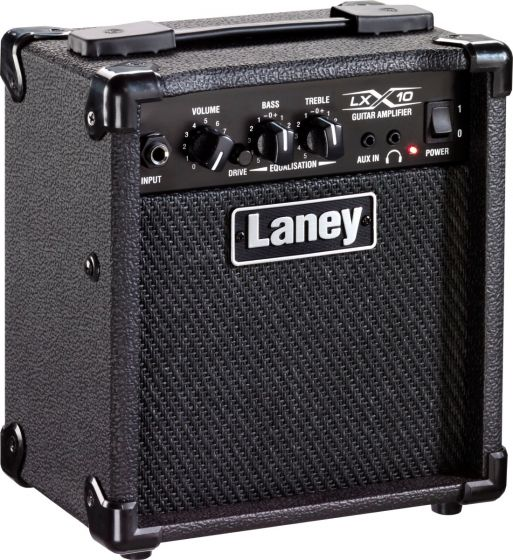 Laney LX 10W Electric Guitar Combo Amp 1x5 with Drive LX10 BK sku number LX10 BK