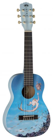 Luna Aurora 1/2 Nylon Acoustic Guitar Mermaid AR2 NYL MERMAID AR2 NYL MERMAID