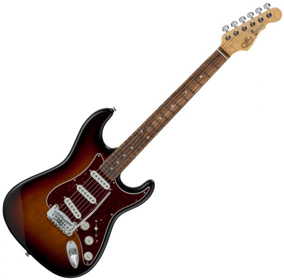 G&L Legacy USA Fullerton Deluxe in 3 Tone Sunburst sku number FD-LGCY-3TS-CR
