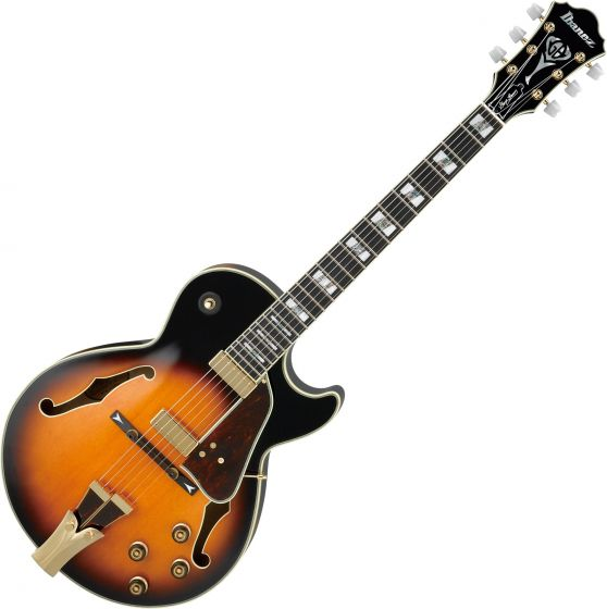 Ibanez Signature George Benson GB10 Hollow Body Electric Guitar in Brown Sunburst with Case GB10BS
