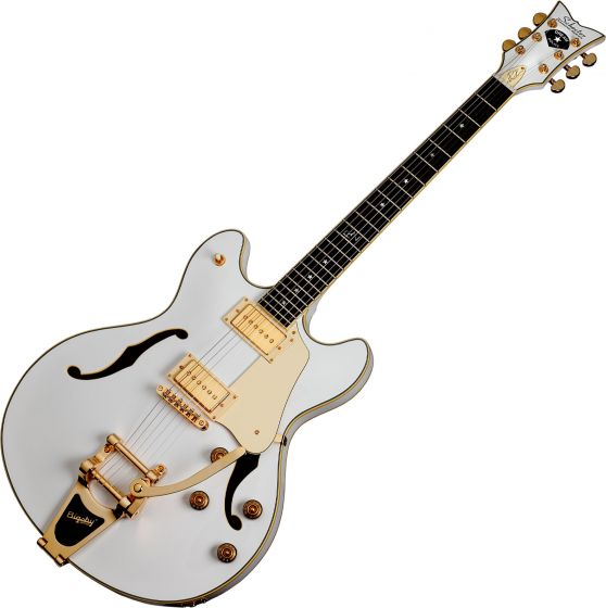 Schecter Signature Robin Zander Corsair Electric Guitar in Gloss White Finish SCHECTER2242