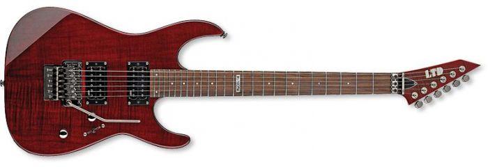 ESP LTD M-100FM Guitar in See-Through Black Cherry sku number LM100FMSTBC