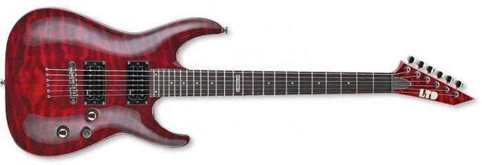 ESP LTD MH-100QMNT Guitar in See-Through Black Cherry LMH100QMNTSTBC