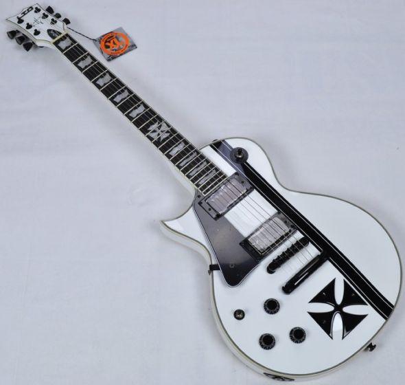ESP LTD Iron Cross James Hetfield Left Hand Electric Guitar in Snow LIRONCROSSSWLH