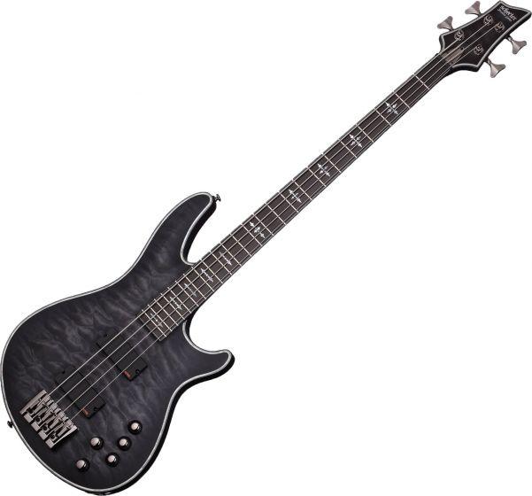 Schecter Hellraiser Extreme-4 Electric Bass See Thru Black Satin SCHECTER1909