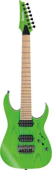 Ibanez RGR5227MFX TFG RG Prestige 7 String Transparent Fluorescent Green Electric Guitar w/Case sku number RGR5227MFXTFG