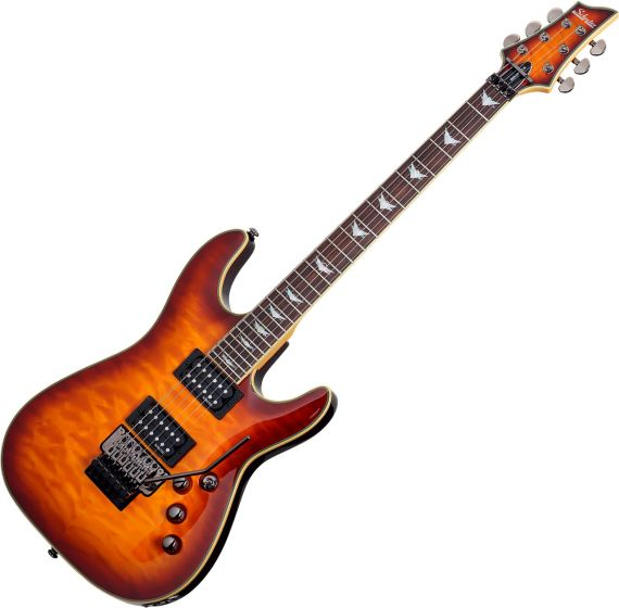 Schecter Omen Extreme-6 FR Electric Guitar in Vintage Sunburst Finish SCHECTER2029