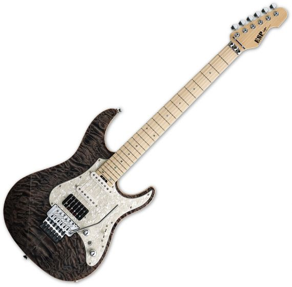 ESP Snapper CTM 24 Frets Electric Guitar in See Thru Black ESNAPCTM24MFRSTBLK