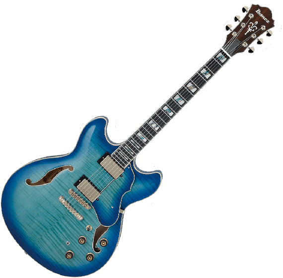 Ibanez Artstar AS153 Semi-Hollow Electric Guitar in Jet Blue Burst with Case AS153JBB