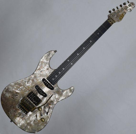 ESP Exhibition Limited Snapper-CTM FR Sand-Blast Maziora Gold Leaf Electric Guitar EEX1742