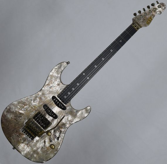 ESP Exhibition Limited Snapper-CTM FR Sand-Blast Maziora Gold Leaf Electric Guitar sku number EEX1742