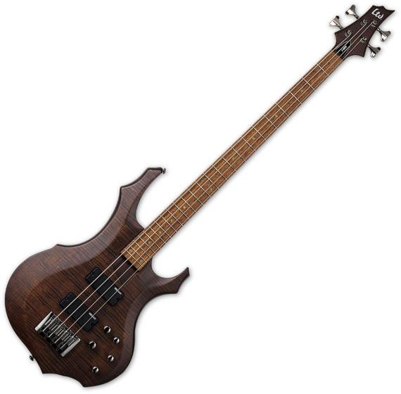 ESP LTD F-204FM Electric Bass Walnut Brown Satin LF204FMWBS