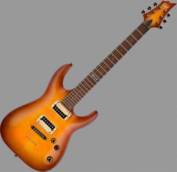 ESP LTD H-101FM Guitar in Amber Sunburst Finish B-Stock sku number LH101FMASB.B