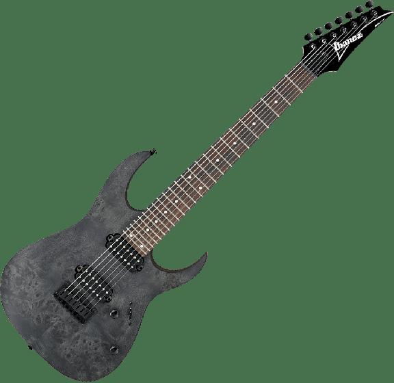 Ibanez RG Standard RG7421PB 7 String Electric Guitar in Transparent Gray Flat RG7421PBTGF