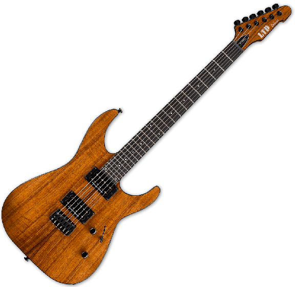 ESP LTD M-1000HT Koa Top Electric Guitar in Natural LM1000HTKNAT