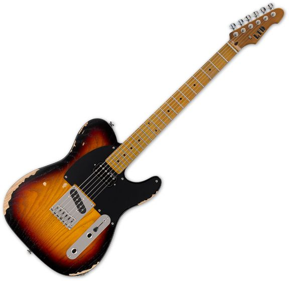 ESP LTD TE-254 Electric Guitar Distressed 3-Tone Sunburst LTE254D3TB