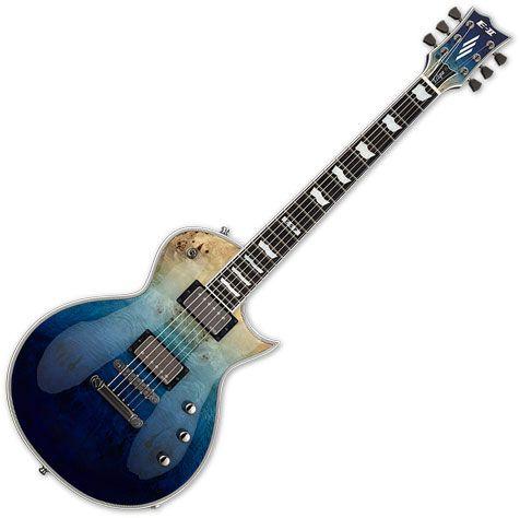 ESP E-II Eclipse Electric Guitar Blue Natural Fade EIIECBMBLUNFD