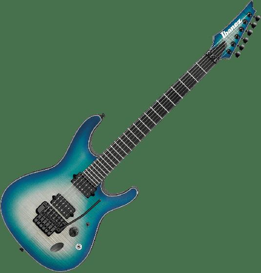 Ibanez S Iron Label SIX6DFM Electric Guitar in Blue Space Burst SIX6DFMBCB