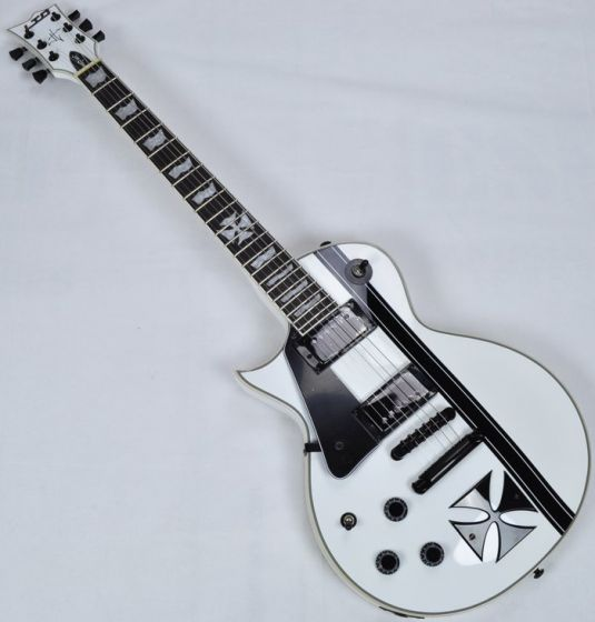 ESP LTD Iron Cross James Hetfield Left Hand Electric Guitar in Snow B-Stock LIRONCROSSSWLH.B