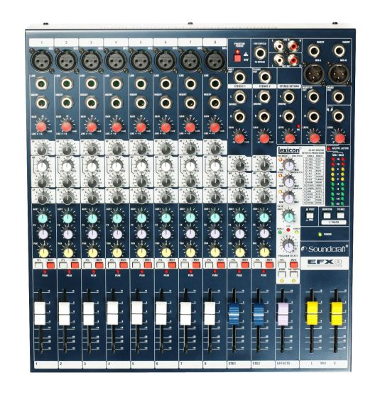 Soundcraft EFX8 Lexicon Effects Mixer B-Stock E535.000000US.B