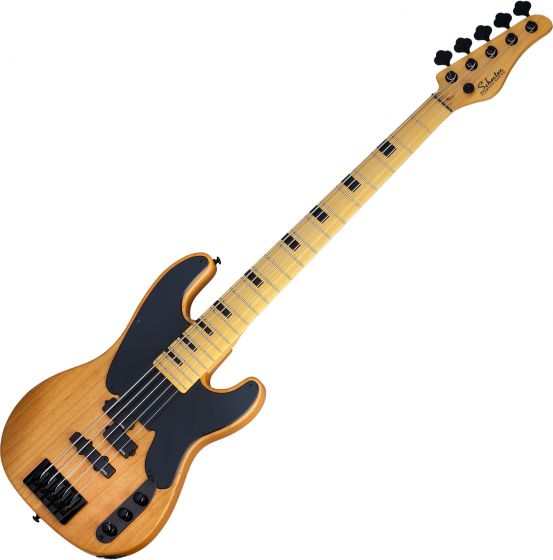Schecter Model-T Session-5 Electric Bass Aged Natural Satin SCHECTER2847