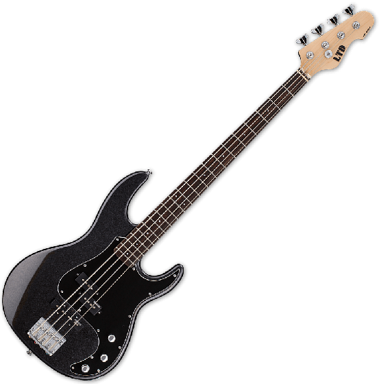 ESP LTD AP-204 Electric Bass in Charcoal Metallic LAP204CHM