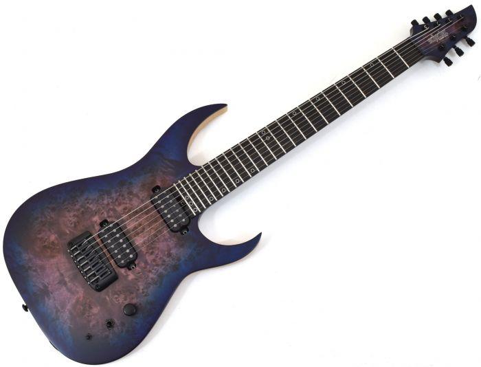 Schecter KM-7 MK-III Keith Merrow Guitar in Blue Crimson sku number SCHECTER303