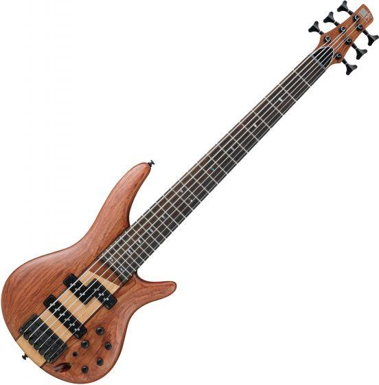 Ibanez SR Standard SR756 6 String Electric Bass Natural Flat SR756NTF