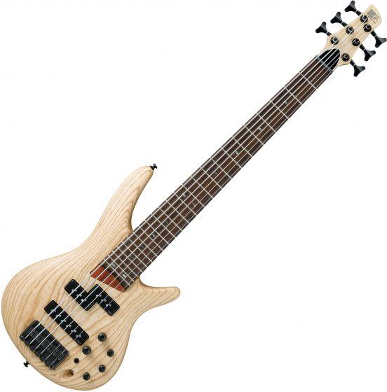 Ibanez SR Standard SR656 6 String Electic Bass Natural Flat SR656NTF
