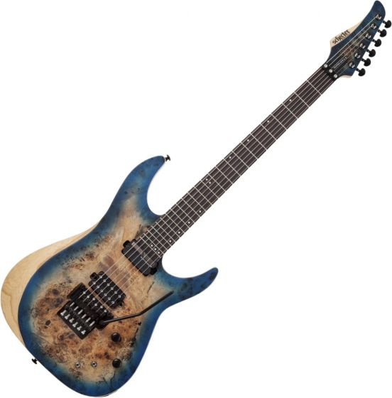 Schecter Reaper-6 FR S Electric Guitar in Satin Sky Burst sku number SCHECTER1507