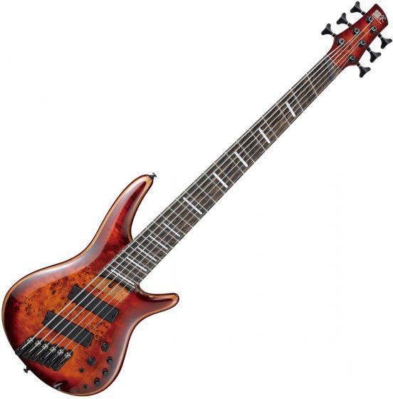 Ibanez SR Bass Workshop 6-String Multiscale Electric Bass Brown Topaz Burst SRMS806BTT