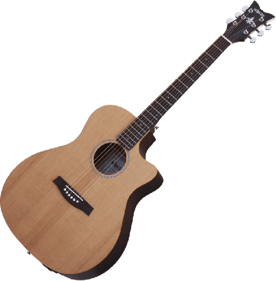 Schecter Deluxe Acoustic Guitar in Natural Satin Finish SCHECTER3715