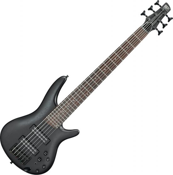 Ibanez SR Standard SR306EB 6 String Electric Bass Weathered Black SR306EBWK