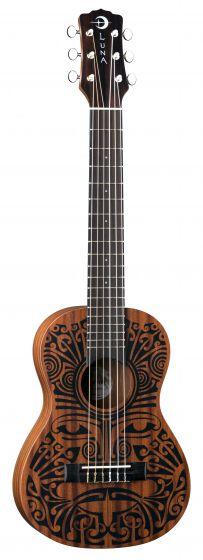 Luna Uke Tribal Mahogany 6 String Baritone UKE TRIBAL 6 UKE TRIBAL 6