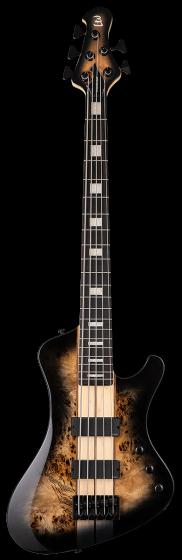 ESP LTD STREAM-1005 Black Natural Burst 5 String Bass Guitar sku number LSTREAM1005BLKNB