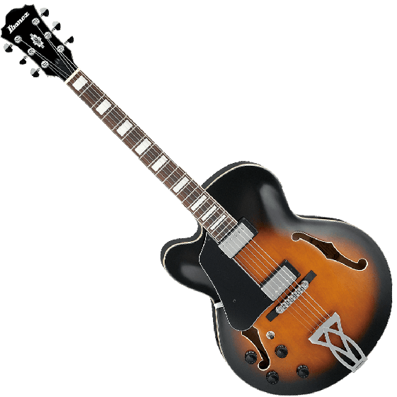 Ibanez Artcore AF75LVSB Left-Handed Hollow Body Electric Guitar in Vintage Sunburst Finish AF75LVSB