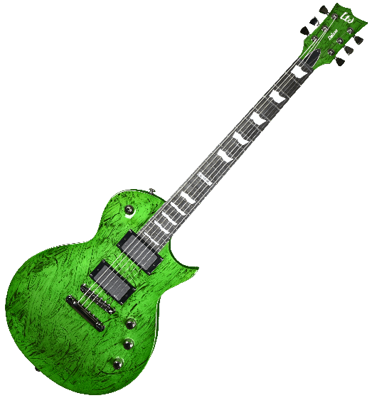 ESP LTD Deluxe EC-1000 Electric Guitar in Swirl Green Finish LXEC1000SWG