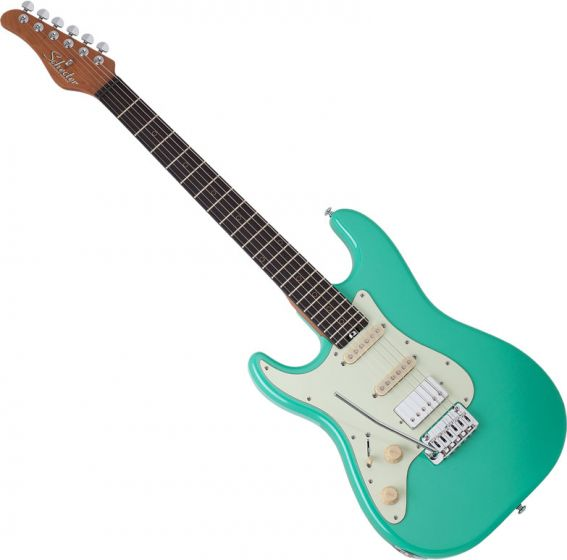 Schecter Nick Johnston Traditional HSS Left Handed Electric Guitar Atomic Green SCHECTER1543