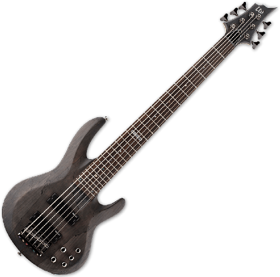 ESP LTD B-206SM Electric Bass in See Thru Black Satin LB206SMSTBLKS